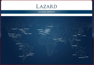 Lazard global offices from Lazard web site