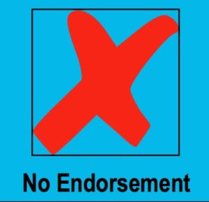 no endorsement 3