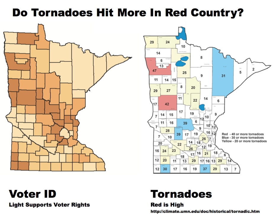 tornadoes election mn map