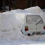 winter buried car