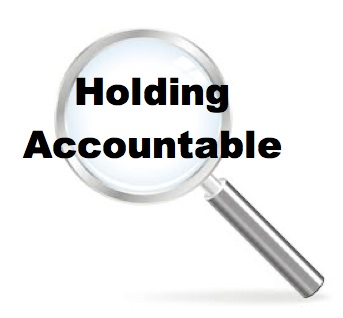 holding accountable magnifying glass