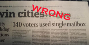 The Star Tribune headline writer got the story seriously wrong