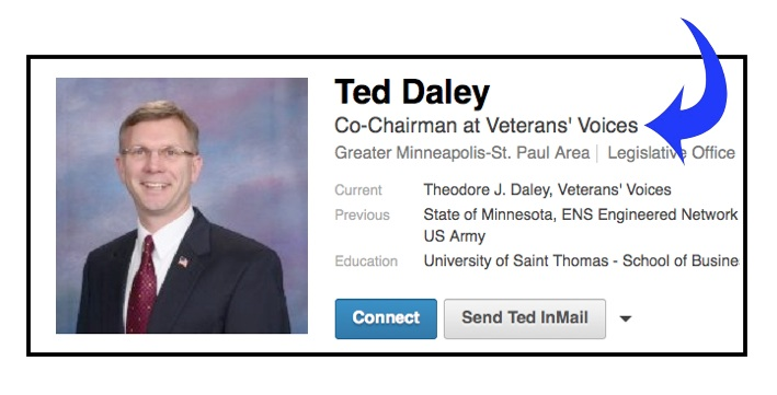 Ted Daley Co Chair Veterans Voices