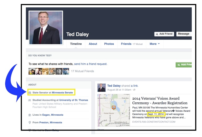 Ted Daley Still Senator 2014