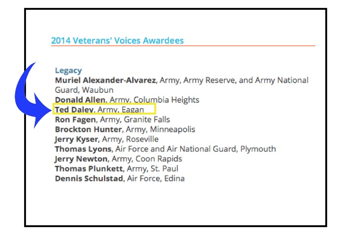 Ted Daley Veterans Voice List