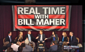 Bill Maher with new best friends at the Grand Event Center, Northfield on October 7, 2014.