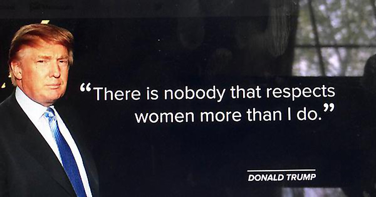 Trump-Respects-Women