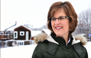 State Auditor Rebecca Otto on her property in Marine on St. Croix on Friday, January 8, 2016.  (Pioneer Press: Jean Pieri)