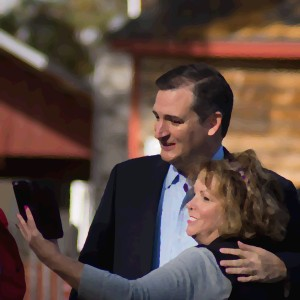 Texas Senator Ted Cruz and voter.